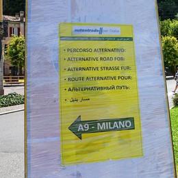 Como: lavori sull'A9  Invasione di Tir in città