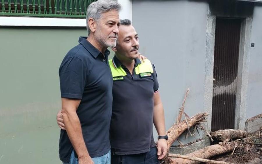 """George Clooney   a """"La Provincia""""  «Pronto ad aiutare  la mia Laglio ferita»"""