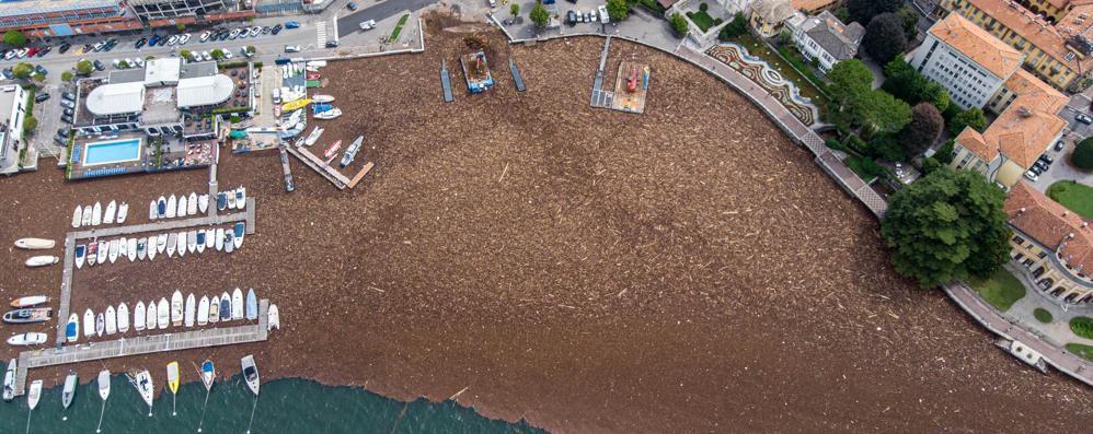 Tonnellate di detriti nel lago  Il battello spazzino non basta