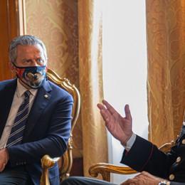 CRV - Presidente Ciambetti ha ricevuto a palazzo Ferro Fini il generale di brigata Giuseppe Spina