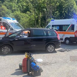 Frontale a Lasnigo Due persone ferite