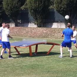 Gli azzurri si allenano  anche con il Teqball