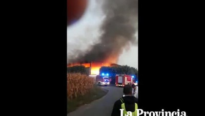 Incendio a Cermenate