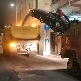 Briantea asfaltata di notte  «Niente disagi a Olgiate»